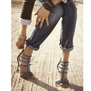 Sam Edelman 'Alina' Sandal Leather Beads Suede